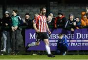 13 March 2017; Ryan McBride of Derry City celebrates after scoring his side's third goal during the SSE Airtricity League Premier Division match between Derry City and Dundalk at Maginn Park in Buncrana, Donegal. Derry City captain Ryan McBride passed away suddenly at the age of 27. Photo by Oliver McVeigh/Sportsfile