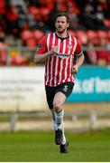 19 May 2015; Ryan McBride of Derry City during the EA Sports Cup Quarter-Final match between Derry City and Shamrock Rovers at The Brandywell in Derry. Derry City captain Ryan McBride passed away suddenly at the age of 27. Photo by Oliver McVeigh / SPORTSFILE