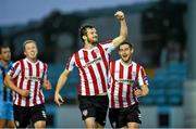 12 September 2014; Ryan McBride of Derry City celebrates after scoring his side's first goal during the FAI Ford Cup Quarter-Final match between Drogheda United and Derry Cit at United Park in Drogheda, Co Louth. Derry City captain Ryan McBride passed away suddenly at the age of 27. Photo by Paul Mohan / SPORTSFILE