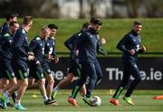20 March 2017; Shane Long of Republic of Ireland in action during squad training at FAI National Training Centre in Abbotstown Co. Dublin. Photo by David Maher/Sportsfile