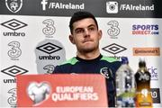 20 March 2017; John Egan of Republic of Ireland during a press conference at FAI National Training Centre in Abbotstown Co. Dublin. Photo by David Maher/Sportsfile