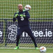 20 March 2017; Darren Randolph of Republic of Ireland during squad training at FAI National Training Centre in Abbotstown Co. Dublin. Photo by David Maher/Sportsfile