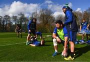 20 March 2017; Mick Kearney and Isa Nacewa during squad training at UCD in Dublin. Photo by Stephen McCarthy/Sportsfile