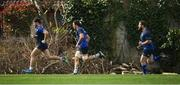 20 March 2017; Leinster players, from left, Dominic Ryan, Mike McCarthy and Michael Bent during squad training at UCD in Dublin. Photo by Stephen McCarthy/Sportsfile