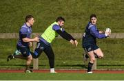 20 March 2017; Munster's Ronan O'Mahony, supported by team-mate Andrew Conway, in action against Duncan Casey during squad training at the University of Limerick in Limerick. Photo by Diarmuid Greene/Sportsfile