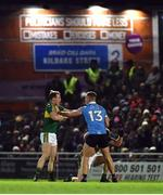 18 March 2017; Ciaran Kilkenny of Dublin tussles off the ball with Mark Griffin, left, and Tadhg Morley of Kerry during the Allianz Football League Division 1 Round 5 match between Kerry and Dublin at Austin Stack Park in Tralee, Co Kerry. Photo by Diarmuid Greene/Sportsfile