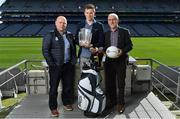 21 March 2017; The 18th annual All-Ireland GAA Golf Challenge was officially launched in GAA headquarters today by KN Group Managing Director Damien Gallagher, inter-county managers Derek McGrath of Waterford and Mickey Harte of Tyrone and 2016 hurler and young hurler of the year Austin Gleeson among other GAA personalities including Challenge patron and Kilkenny legend Eddie Keher. The organisers of the KN Group All-Ireland GAA Golf Challenge are delighted to announce that this year's event takes place at the impressive Gold Coast Hotel and Golf Resort and Dungarvan Golf Club on September 8 and 9. Pictured at the launch are, from left, Waterford hurling manager Derek McGrath, Waterford hurler Austin Gleeson and Tyrone football manager Mickey Harte. Photo by Brendan Moran/Sportsfile