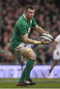 18 March 2017; Peter O'Mahony of Ireland during the RBS Six Nations Rugby Championship match between Ireland and England at the Aviva Stadium in Lansdowne Road, Dublin. Photo by Brendan Moran/Sportsfile