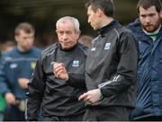 19 March 2017; Fermanagh manager Peter McGrath, left, listening to assistant manager Raymond Johnston during the Allianz Football League Division 2 Round 5 match between Fermanagh and Clare at Brewster Park in Enniskillen, Co Fermanagh. Photo by Oliver McVeigh/Sportsfile