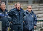 19 March 2017; Clare manager Colm Collins, right, during the Allianz Football League Division 2 Round 5 match between Fermanagh and Clare at Brewster Park in Enniskillen, Co Fermanagh. Photo by Oliver McVeigh/Sportsfile