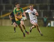 22 March 2017; Michael Carroll of Donegal in action against Nathan Donnelly of Tyrone during the EirGrid Ulster GAA Football U21 Championship Quarter-Final Replay match between Donegal and Tyrone at MacCumhaill Park in Ballybofey, Co Donegal. Photo by Philip Fitzpatrick/Sportsfile