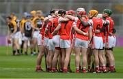 17 March 2017; Cuala players in a huddle before the AIB GAA Hurling All-Ireland Senior Club Championship Final match between Ballyea and Cuala at Croke Park in Dublin. Photo by Piaras Ó Mídheach/Sportsfile
