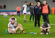 17 March 2017; Dejected Slaughtneil players after the AIB GAA Football All-Ireland Senior Club Championship Final match between Dr. Crokes and Slaughtneil at Croke Park in Dublin. Photo by Piaras Ó Mídheach/Sportsfile
