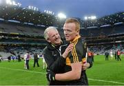 17 March 2017; Dr. Crokes captain Johnny Buckley with his father Mike after the AIB GAA Football All-Ireland Senior Club Championship Final match between Dr. Crokes and Slaughtneil at Croke Park in Dublin.   Photo by Piaras Ó Mídheach/Sportsfile