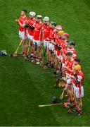 17 March 2017; The Cuala team ahead of the AIB GAA Hurling All-Ireland Senior Club Championship Final match between Ballyea and Cuala at Croke Park in Dublin. Photo by Ray McManus/Sportsfile