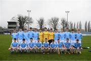 22 March 2017; The Rice College team before the Bank of Ireland FAI Schools Dr. Tony O'Neill Senior Cup National Final match between Rice College, Westport, and St. Francis College, Rochestown, at Home Farm FC in Whitehall, Dublin. Photo by Stephen McCarthy/Sportsfile