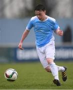 22 March 2017; Eoin Conway of Rice College during the Bank of Ireland FAI Schools Dr. Tony O'Neill Senior Cup National Final match between Rice College, Westport, and St. Francis College, Rochestown, at Home Farm FC in Whitehall, Dublin. Photo by Stephen McCarthy/Sportsfile