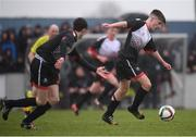 22 March 2017; Ger O'Mahony of St. Francis College during the Bank of Ireland FAI Schools Dr. Tony O'Neill Senior Cup National Final match between Rice College, Westport, and St. Francis College, Rochestown, at Home Farm FC in Whitehall, Dublin. Photo by Stephen McCarthy/Sportsfile