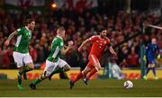 24 March 2017; Joe Allen of Wales in action against James McClean of Republic of Ireland during the FIFA World Cup Qualifier Group D match between Republic of Ireland and Wales at the Aviva Stadium in Dublin. Photo by Ramsey Cardy/Sportsfile