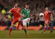 24 March 2017; Gareth Bale of Wales in action against James McClean of Republic of Ireland during the FIFA World Cup Qualifier Group D match between Republic of Ireland and Wales at the Aviva Stadium in Dublin. Photo by Eóin Noonan/Sportsfile