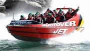 3 September 2011; Members of the Ireland squad, including, Tommy Bowe, Tony Buckley, Rob Kearney, Shane Jennings, Tom Court, Stephen Ferris, Conor Murray, Isaac Boss, Rory Best and Keith Earls, ride in a Shotover Jet boat around the Shotover River, the trip being kindly provided by the Queenstown Lakes District Council, during a squad activity ahead of their Pool C opening game against the USA on the 11th of September. Ireland Rugby Squad Activity - 2011 Rugby World Cup, Queenstown, New Zealand. Picture credit: Brendan Moran / SPORTSFILE