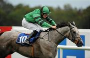 3 September 2011; Silver Sycamore, with Shane Foley up, on the way to winning The Irish Stallion Farms European Breeders Fund Fillies Maiden. Horse Racing at Leopardstown, Leopardstown Race Course, Dublin. Picture credit: Ray McManus / SPORTSFILE