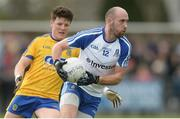 19 March 2017; Gavin Doogan of Monaghan in action against Gary Patterson of Roscommon during the Allianz Football League Division 1 Round 5 match between Monaghan and Roscommon at Páirc Grattan in Inniskeen, Co Monaghan. Photo by Piaras Ó Mídheach/Sportsfile