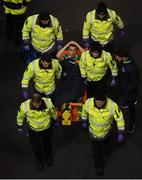 24 March 2017; Seamus Coleman of Republic of Ireland is stretchered off during the FIFA World Cup Qualifier Group D match between Republic of Ireland and Wales at the Aviva Stadium in Dublin. Photo by Stephen McCarthy/Sportsfile