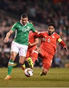 24 March 2017; Jon Walters of Republic of Ireland in action against Ashley Williams of Wales during the FIFA World Cup Qualifier Group D match between Republic of Ireland and Wales at the Aviva Stadium in Dublin. Photo by Seb Daly/Sportsfile