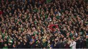 24 March 2017; Ireland supporters join a round of applause in the fifth minute in memory of Derry City captain Ryan McBride during the FIFA World Cup Qualifier Group D match between Republic of Ireland and Wales at the Aviva Stadium in Dublin. Photo by Ramsey Cardy/Sportsfile