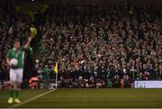 24 March 2017; Ireland supporters join a round of applause in memory of Derry City captain Ryan McBride during the FIFA World Cup Qualifier Group D match between Republic of Ireland and Wales at the Aviva Stadium in Dublin. Photo by Eóin Noonan/Sportsfile