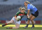25 March 2017; Cora Staunton of Mayo in action against Kate McKenna of Dublin during the Lidl Ladies Football National League Round 6 match between Dublin and Mayo at Croke Park, in Dublin. Photo by Brendan Moran/Sportsfile