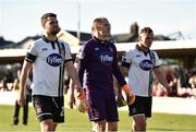 25 March 2017; Paddy Barrett, Gary Rogers, and Thomas Stewart of Dundalk leave the pitch after the SSE Airtricity League Premier Division game between Cork City and Dundalk at Turner's Cross in Cork. Photo by Diarmuid Greene/Sportsfile