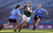 25 March 2017; Cora Staunton of Mayo in action against Noelle Healy, left, and Fiona Hudson of Dublin during the Lidl Ladies Football National League Round 6 match between Dublin and Mayo at Croke Park, in Dublin. Photo by Brendan Moran/Sportsfile