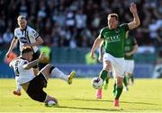 25 March 2017; Achille Campion of Cork City in action against Paddy Barrett of Dundalk during the SSE Airtricity League Premier Division game between Cork City and Dundalk at Turner's Cross in Cork. Photo by Diarmuid Greene/Sportsfile