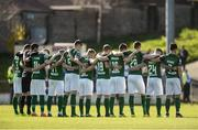 25 March 2017; Cork players observe a minute silence in memory of the late Ryan McBride of Derry City before the SSE Airtricity League Premier Division game between Cork City and Dundalk at Turner's Cross in Cork. Photo by Diarmuid Greene/Sportsfile