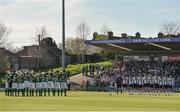 25 March 2017; Cork and Dundalk players observe a minute silence in memory of the late Ryan McBride of Derry City before the SSE Airtricity League Premier Division game between Cork City and Dundalk at Turner's Cross in Cork. Photo by Diarmuid Greene/Sportsfile