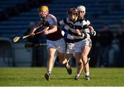 25 March 2017; Jerry Kelly of Our Lady's Secondary School Templemore in action against Ted Drea and Michael Carey of St Kieran's College, behind, during the Masita GAA All Ireland Post Primary Schools Croke Cup Final game between St. Kieran's College and Our Ladys Secondary School Templemore at Semple Stadium in Thurles, Co. Tipperary. Photo by Piaras Ó Mídheach/Sportsfile