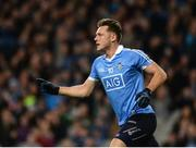 25 March 2017; Paul Flynn of Dublin celebrates after scoring his side's first goal during the Allianz Football League Division 1 Round 6 game between Dublin and Roscommon at Croke Park in Dublin. Photo by Daire Brennan/Sportsfile