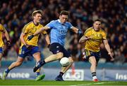 25 March 2017; Paul Flynn of Dublin scores his side's first goal during the Allianz Football League Division 1 Round 6 game between Dublin and Roscommon at Croke Park in Dublin. Photo by Daire Brennan/Sportsfile