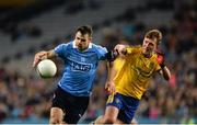 25 March 2017; Kevin McManamon of Dublin in action against Ronan Stack of Roscommon during the Allianz Football League Division 1 Round 6 game between Dublin and Roscommon at Croke Park in Dublin. Photo by Daire Brennan/Sportsfile