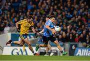 25 March 2017; Kevin McManamon of Dublin in action against Ultan Harney of Roscommon during the Allianz Football League Division 1 Round 6 game between Dublin and Roscommon at Croke Park in Dublin. Photo by Daire Brennan/Sportsfile