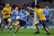 25 March 2017; Kevin McManamon of Dublin in action against Tadgh O'Rourke of Roscommon during the Allianz Football League Division 1 Round 6 game between Dublin and Roscommon at Croke Park in Dublin. Photo by Brendan Moran/Sportsfile