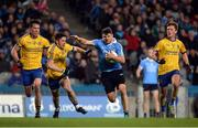 25 March 2017; Kevin McManamon of Dublin in action against Brian Murtagh of Roscommon during the Allianz Football League Division 1 Round 6 game between Dublin and Roscommon at Croke Park in Dublin. Photo by Daire Brennan/Sportsfile