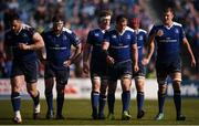 25 March 2017; Leinster players, from left, Cian Healy, Michael Bent, Dan Leavy, Rhys Ruddock, Josh van der Flier and Ross Molony during the Guinness PRO12 Round 18 game between Leinster and Cardiff Blues at RDS Arena in Ballsbridge, Dublin. Photo by Stephen McCarthy/Sportsfile