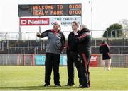 26 March 2017; Mayo manager Stephen Rochford, left, with Mayo selectors Donie Bucklley and Tony McEntee before the Allianz Football League Division 1 Round 6 match between Tyrone and Mayo at Healy Park in Omagh. Photo by Oliver McVeigh/Sportsfile