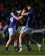 26 March 2017; Fergal Reilly, left, and Killian Clarke of Cavan tussle with Paul Geaney of Kerry during the Allianz Football League Division 1 Round 6 match between Cavan and Kerry at Kingspan Breffni Park in Cavan. Photo by Stephen McCarthy/Sportsfile
