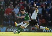 25 March 2017; Sean Maguire of Cork City in action against Paddy Barrett of Dundalk during the SSE Airtricity League Premier Division game between Cork City and Dundalk at Turner's Cross in Cork. Photo by Diarmuid Greene/Sportsfile