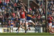 26 March 2017; Lorcan McLoughlin of Cork in action against Kieran Bergin of Tipperary during the Allianz Hurling League Division 1A Round 5 match between Cork and Tipperary at Páirc Uí Rinn in Cork. Photo by Eóin Noonan/Sportsfile