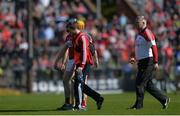 26 March 2017; Conor Lehane of Cork makes his way off the pitch after sustaining an injury during the Allianz Hurling League Division 1A Round 5 match between Cork and Tipperary at Páirc Uí Rinn in Cork. Photo by Eóin Noonan/Sportsfile